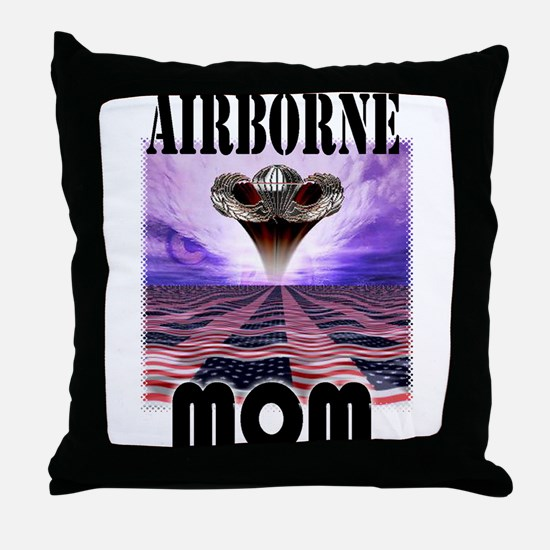 Airborne MomThrow Pillow