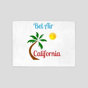 Bel Air California Palm Tree and Su 5'x7'Area Rug