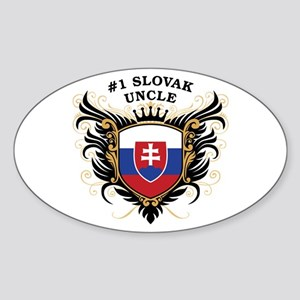Number One Slovak Uncle Oval Sticker