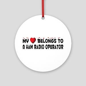 Belongs To A Ham Radio Operator Ornament (Round)