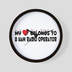 Belongs To A Ham Radio Operator Wall Clock