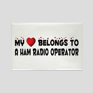 Belongs To A Ham Radio Operator Rectangle Magnet