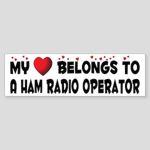 Belongs To A Ham Radio Operator Bumper Sticker