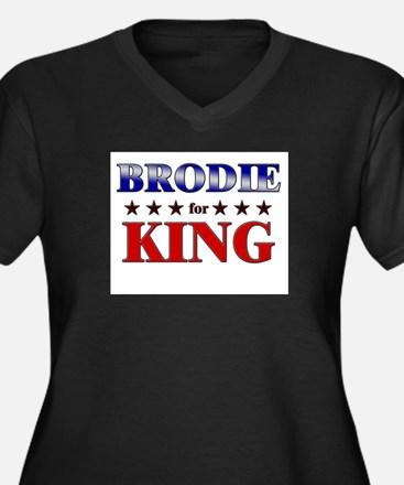 BRODIE for king Women's Plus Size V-Neck Dark T-Sh