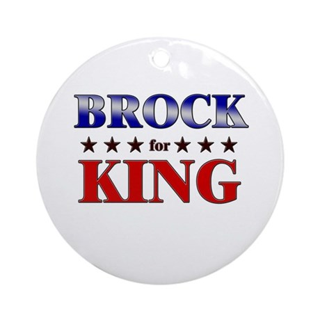 BROCK for king Ornament (Round)