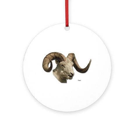 Ram Sheep Horn Keepsake (Round)