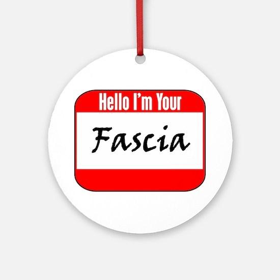 Hello Fascia Ornament (Round)