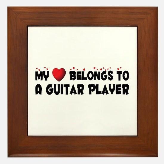 Belongs To A Guitar Player Framed Tile