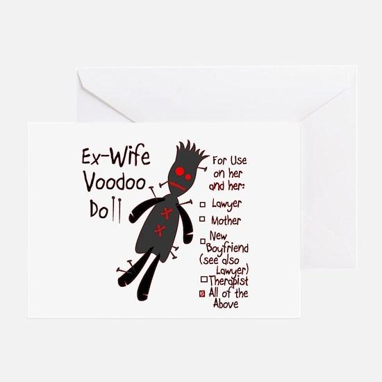 Ex-Wife Voodoo Doll Greeting Card
