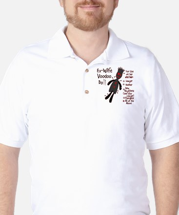 Ex-Wife Voodoo Doll Golf Shirt