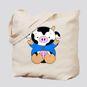 Two Year Old Cow Tote Bag