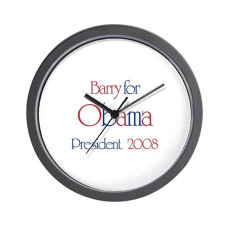 Barry for Obama 2008 Wall Clock