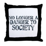 Danger To Society Throw Pillow