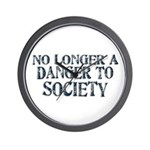 Danger To Society Wall Clock