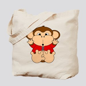 Two Year Old Monkey Tote Bag
