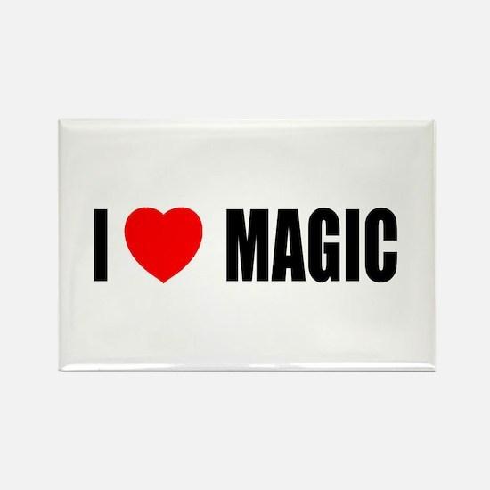 I Love Magic Rectangle Magnet