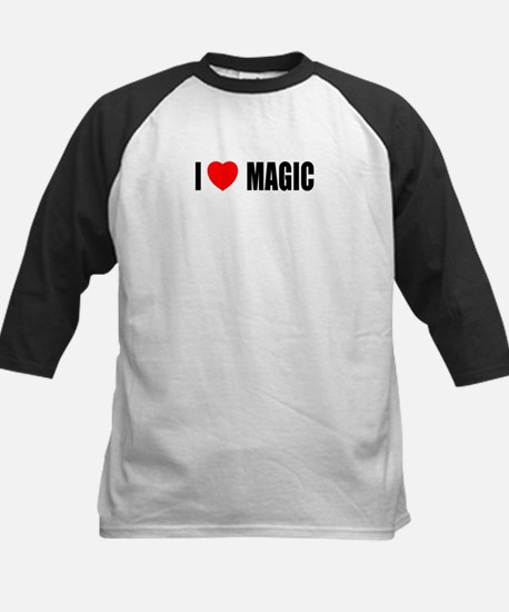 I Love Magic Kids Baseball Jersey
