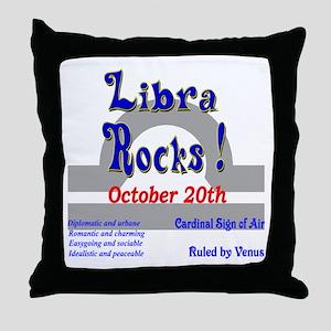 Libra October 20th Throw Pillow