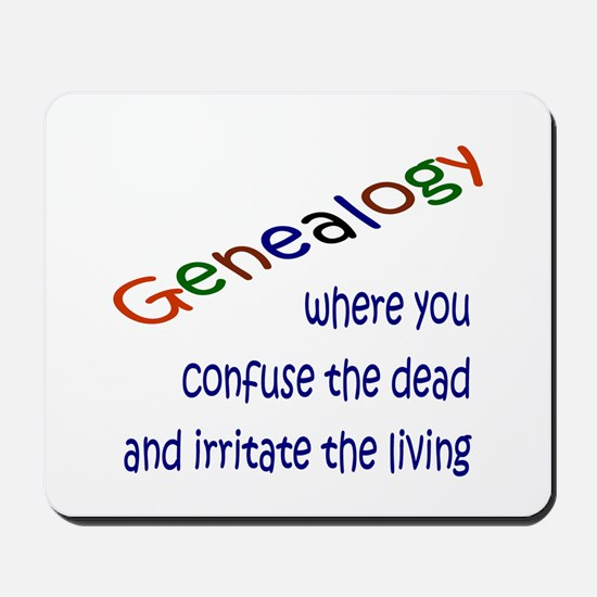 Genealogy Confusion (blue) Mousepad