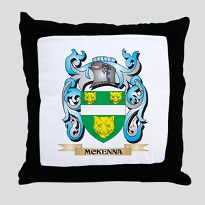Mckenna Coat of Arms - Family Crest Throw Pillow