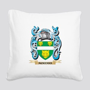 Mckenna Coat of Arms - Family Square Canvas Pillow