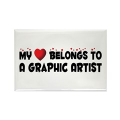 Belongs To A Graphic Artist Rectangle Magnet
