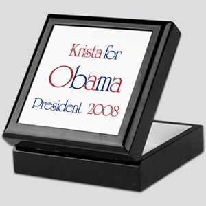 Krista for Obama 2008 Keepsake Box
