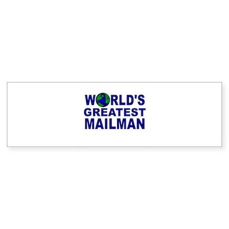 World's Greatest Mailman Bumper Sticker