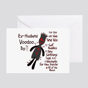 Ex Wife Voodoo Doll Greeting Cards Cafepress