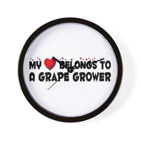 Belongs To A Grape Grower Wall Clock