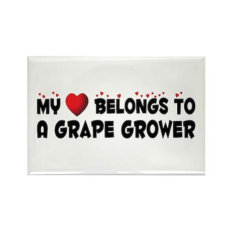 Belongs To A Grape Grower Rectangle Magnet (10 pac