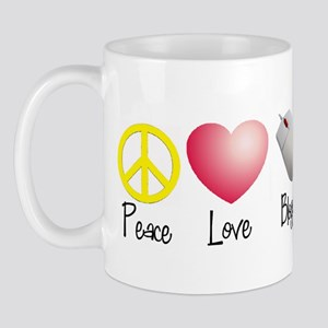 Peace, Love, Blogging Mug