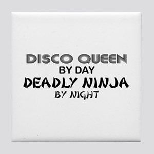 Disco Queen Deadly Ninja by Night Tile Coaster