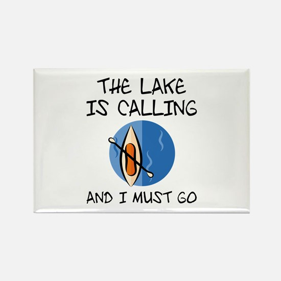 The Lake Is Calling Rectangle Magnet