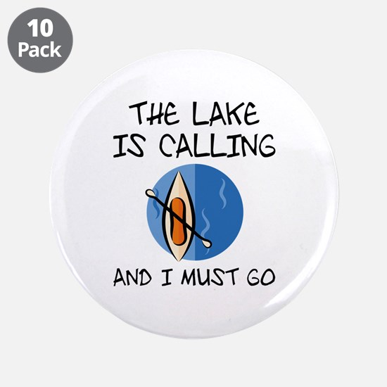 "The Lake Is Calling 3.5"" Button (10 pack)"