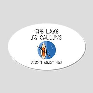 The Lake Is Calling 22x14 Oval Wall Peel