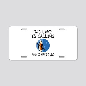 The Lake Is Calling Aluminum License Plate
