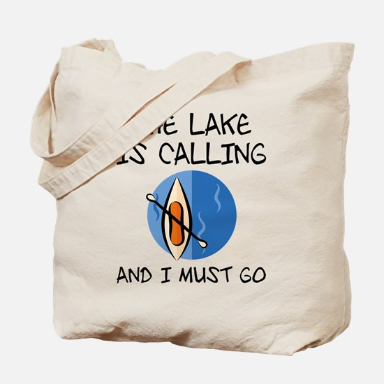 The Lake Is Calling Tote Bag