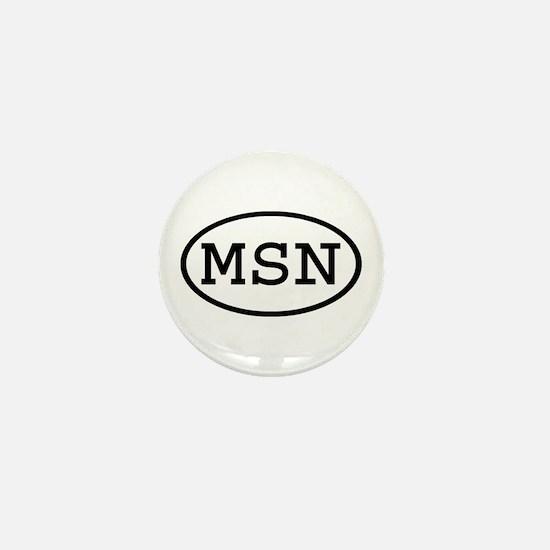MSN Oval Mini Button