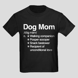 Dog Mom Kids Dark T-Shirt