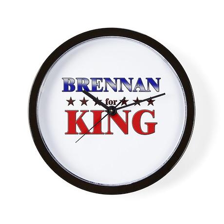 BRENNAN for king Wall Clock