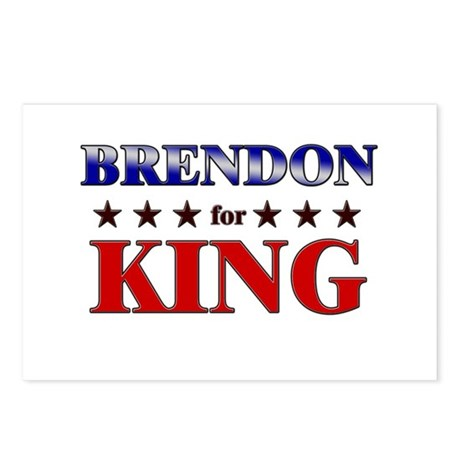 BRENDON for king Postcards (Package of 8)