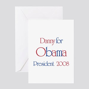 Danny for Obama 2008 Greeting Card