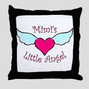 Mimi's Little Angel Throw Pillow