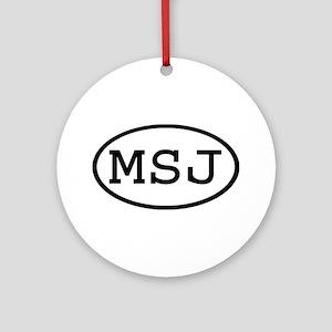MSJ Oval Ornament (Round)