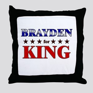 BRAYDEN for king Throw Pillow