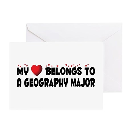 Belongs To A Geography Major Greeting Cards (Pk of