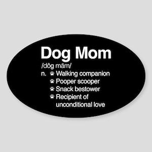 Dog Mom Sticker (Oval)