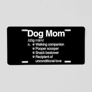 Dog Mom Aluminum License Plate