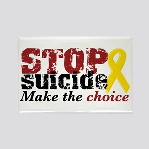 STOP suicide make choice Rectangle Magnet
